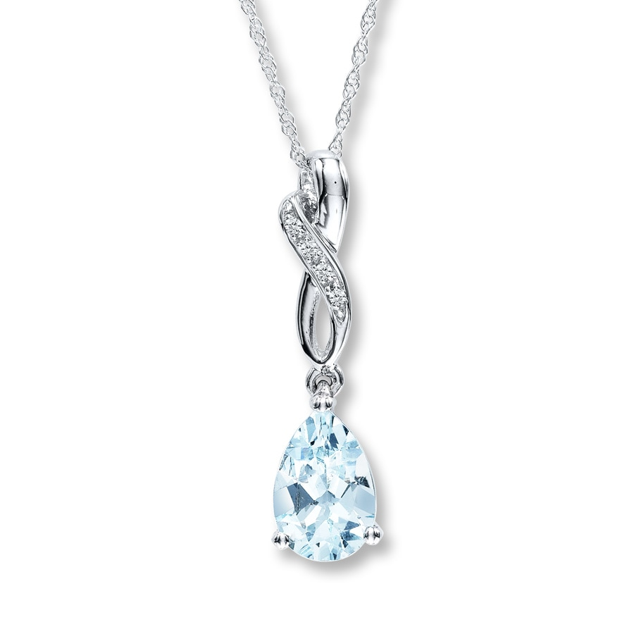 shop rect marine pendant aquamarine carat lumina jewellery faceted aqua