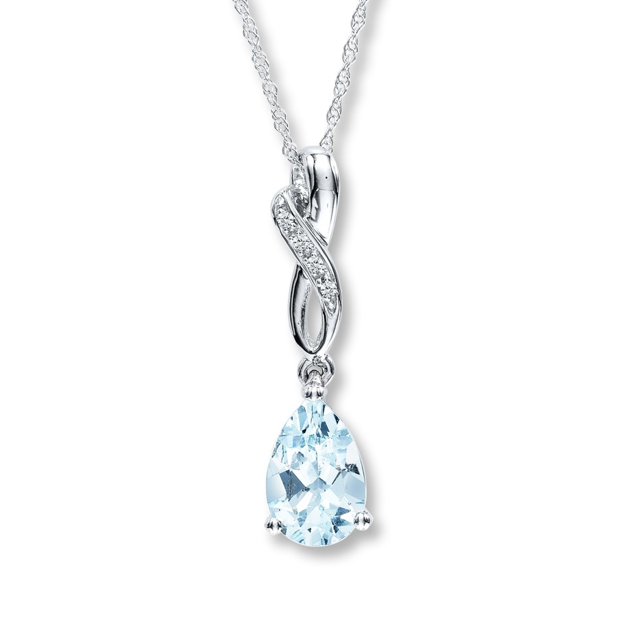 silver aqua zm kaystore accents kay aquamarine necklace marine diamond mv en sterling pendant