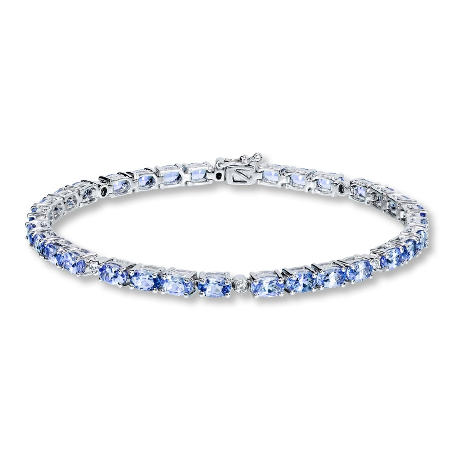 diamonds jewelry bracelet natural silver with tennis tanzanite sterling ct in
