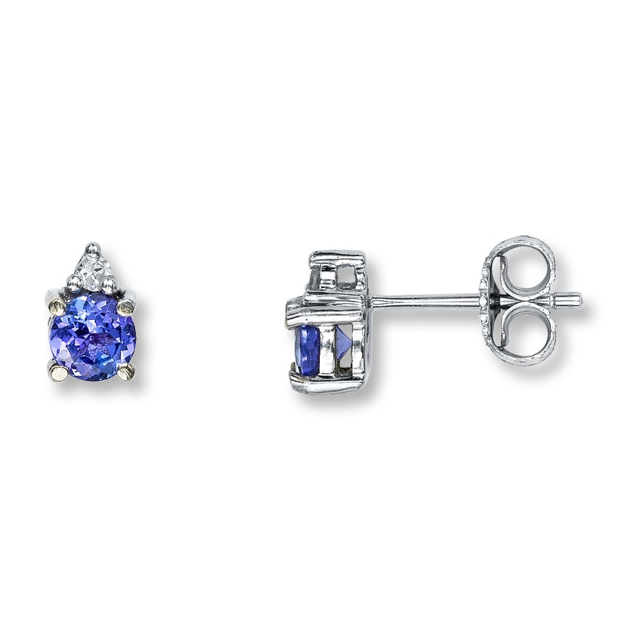 node earrings sehgal diamonds sapphire tanzanite item