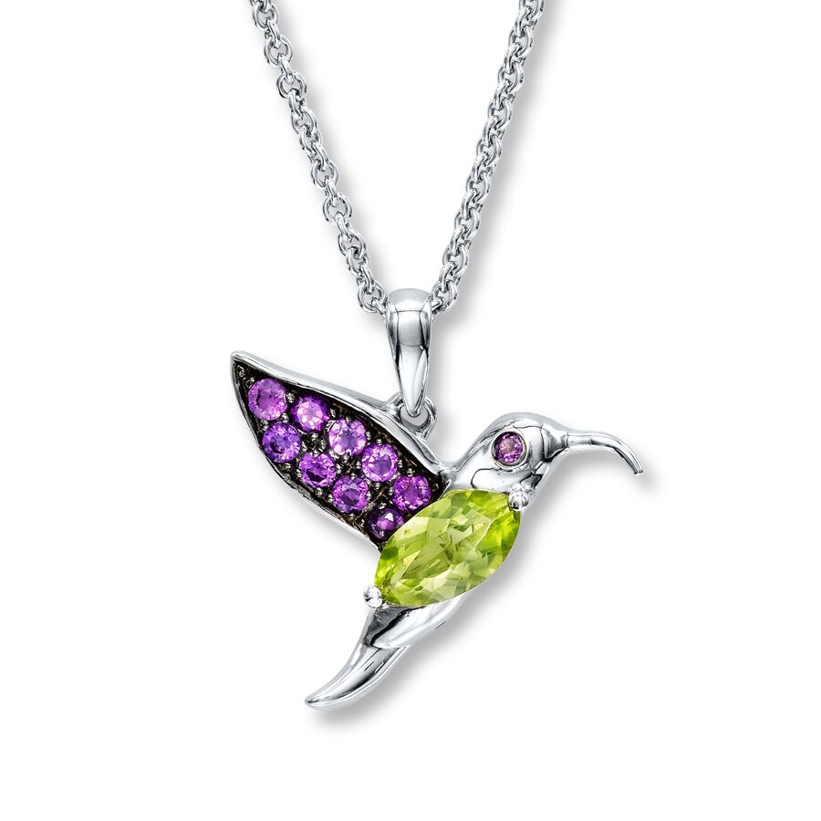 image necklaces long vermeil love hummingbird necklace gold