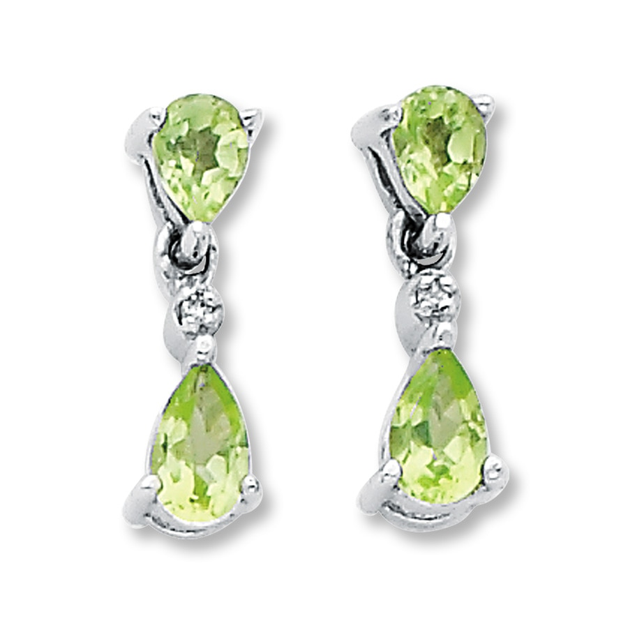 kays earrings peridot earrings with accents sterling silver 9916