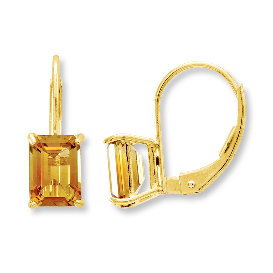 Citrine Earrings 14k Yellow Gold Tap To Expand