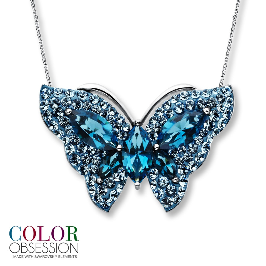 by turquoise blue ciel necklace necklaces creations ne butterfly