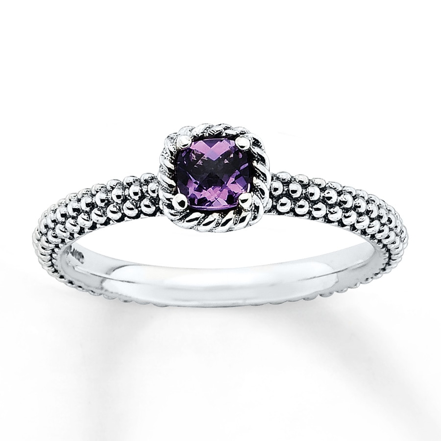 Stackable Amethyst Ring Sterling Silver 37334710799 Kay