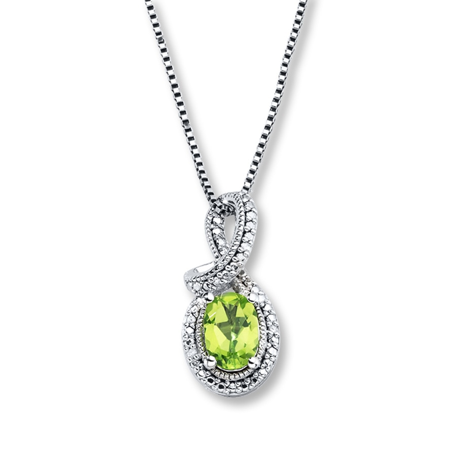 peridot shaped necklace sterling pendant silver heart v p heartshaped in