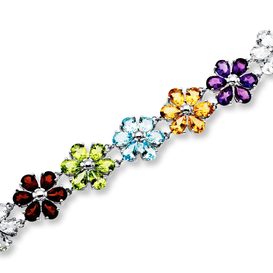 bracelet made silver topaz studded gleam p with quality peridot bracelets multi garnet fine in excellent gemstone for citrine of blue sterling amethyst gifting and