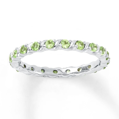 Stackable Ring Peridots Sterling Silver