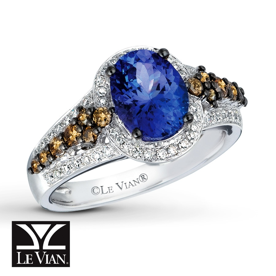 si and white tanzanite h arya gemstone diamond engagement product image ring gold