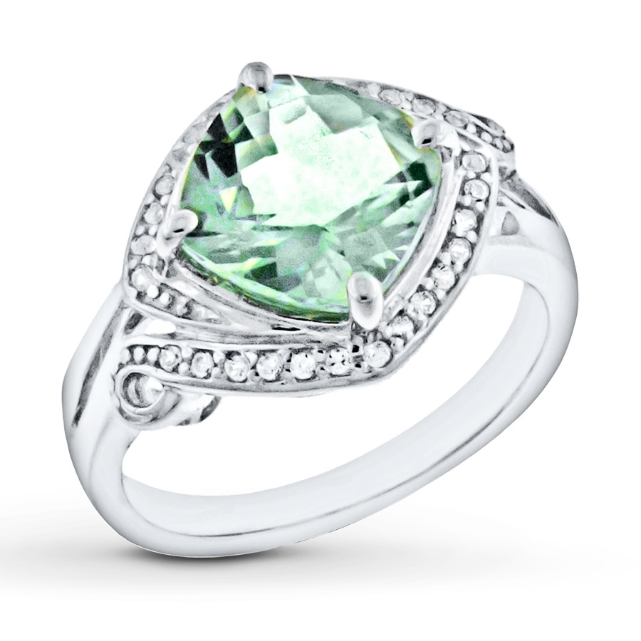silver rutilated engagement white ring quartz lemon gold rings sterling tourmaline products genuine green sapphire assembled