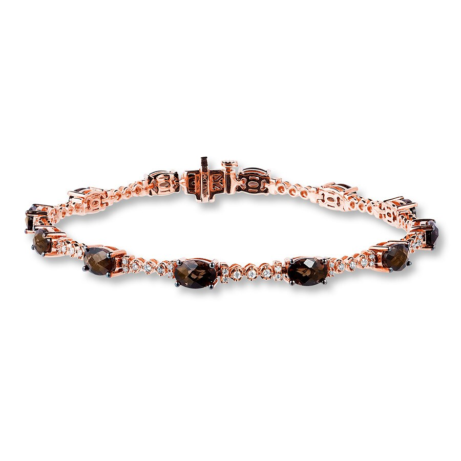 Le Vian Chocolate Quartz Bracelet 3 8 Ct Tw Diamonds 14k Gold