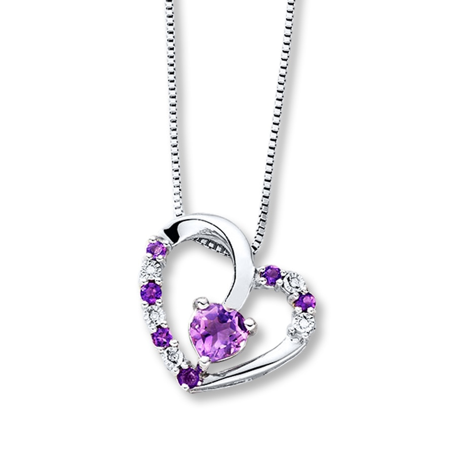 products mini earring silver austrian crystal purple heart set d plated necklace