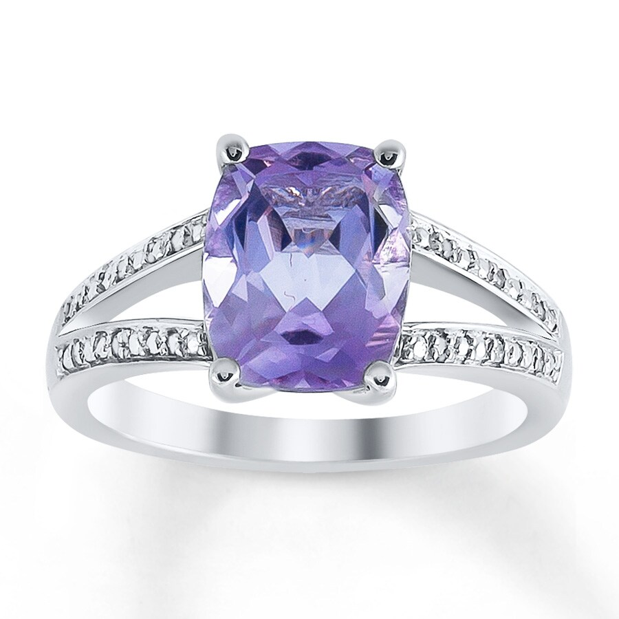 c310e5506 Amethyst Ring Diamond Accents Sterling Silver - 37471830899 - Kay
