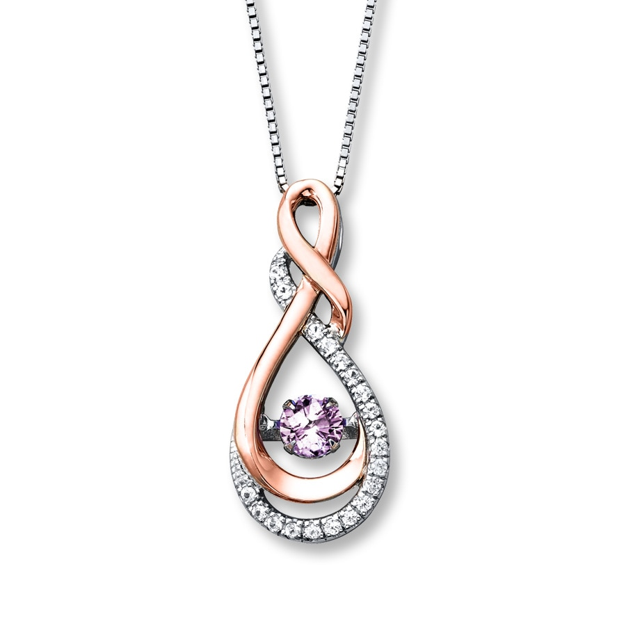 colors in rhythm necklace amethyst sterling silver