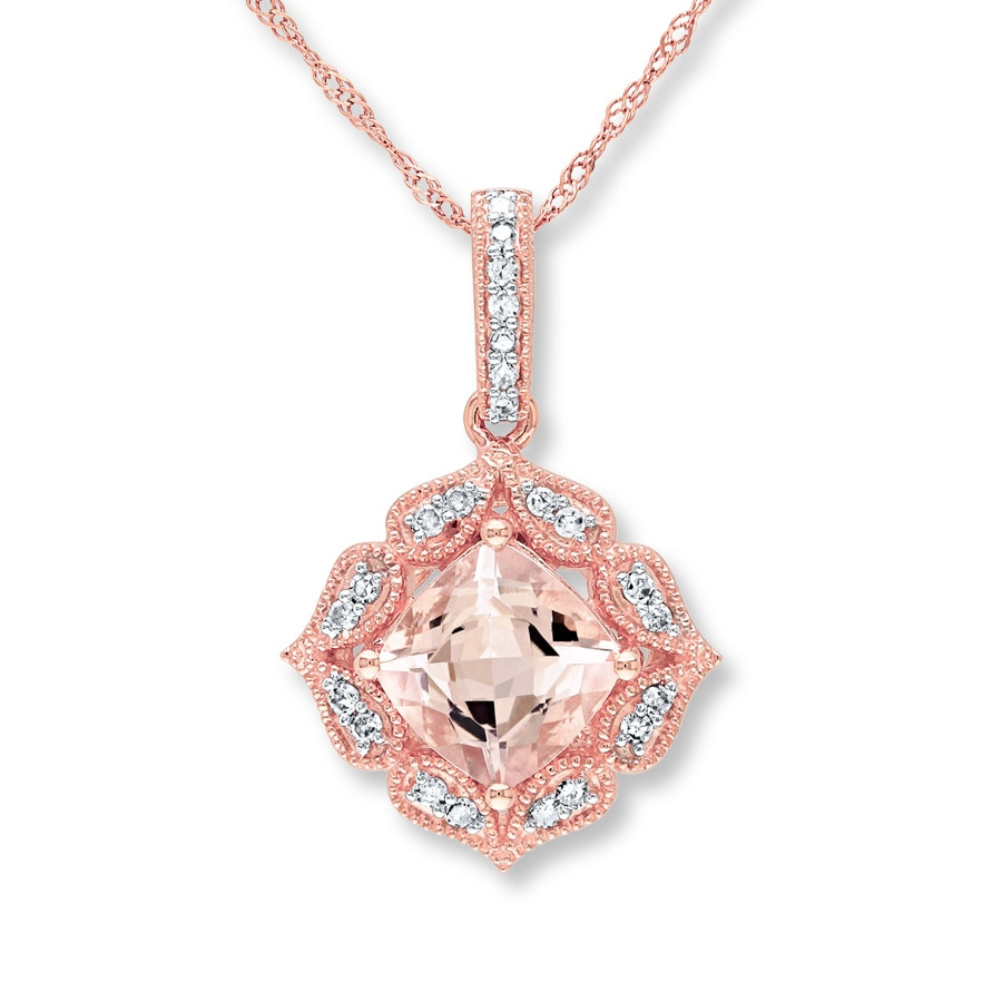 zm diamonds kaystore en to rose necklace mv ct morganite tw kay gold zoom hover
