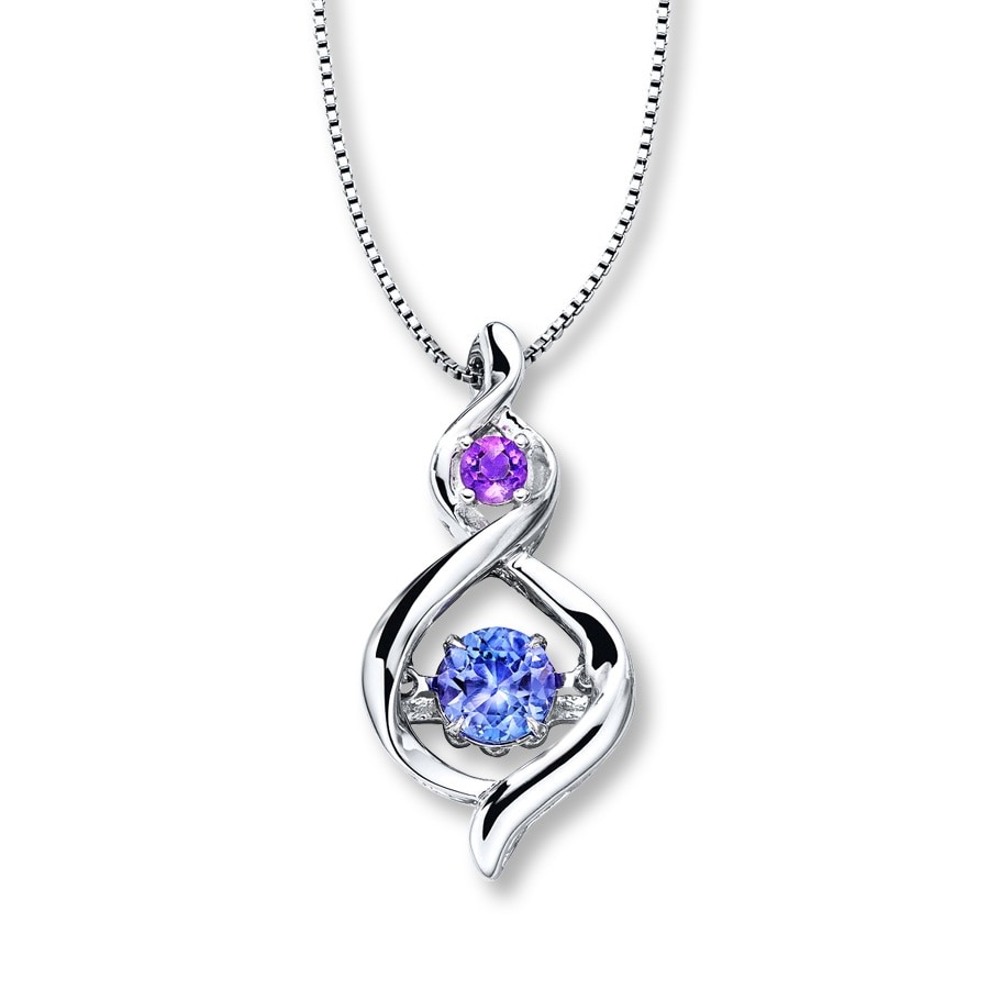 colors in rhythm necklace tanzanite amethyst