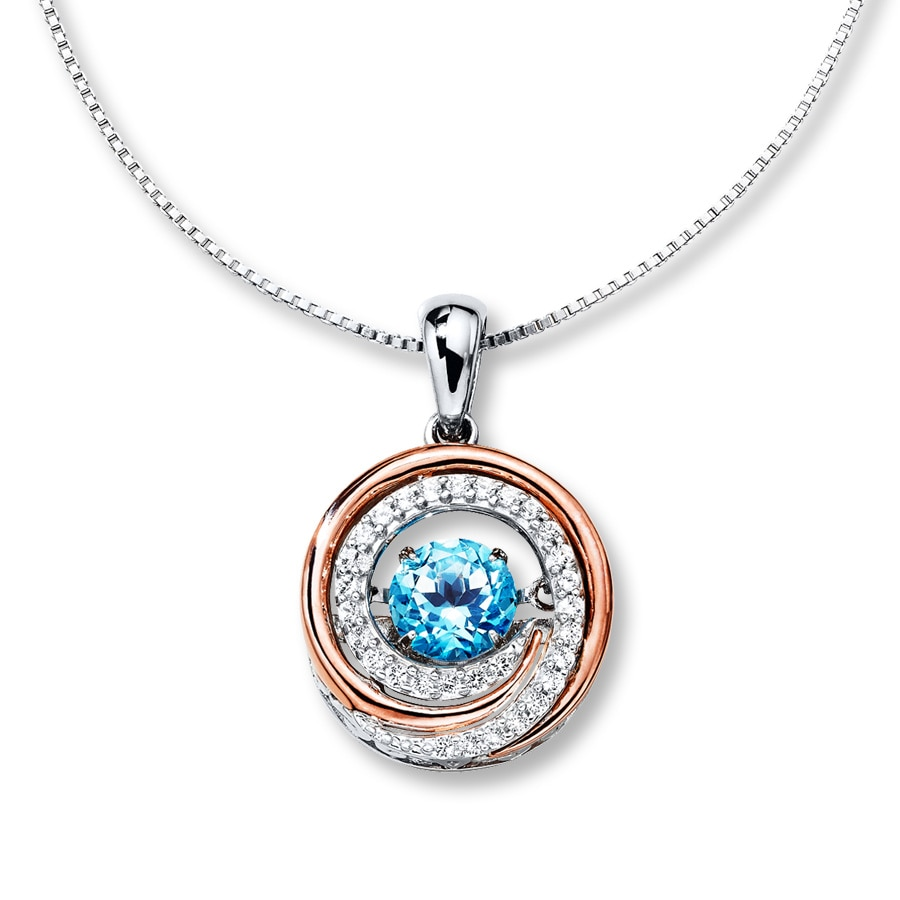 colors in rhythm necklace blue topaz sterling silver