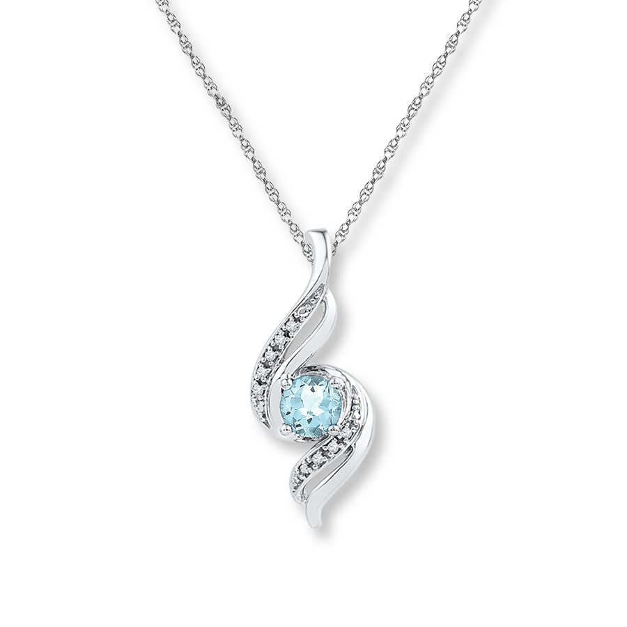cz necklaces zoom aqua birthstone necklace aquamarine pendant hiho silver marine loading sterling march