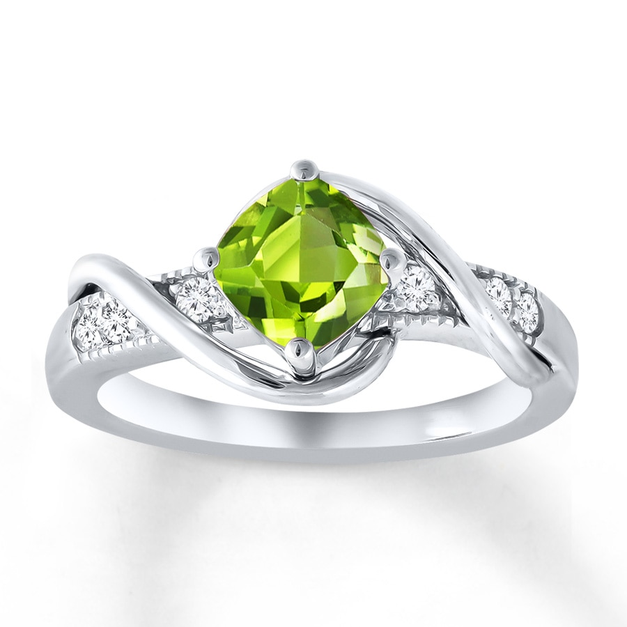 peridot wedding rings peridot ring white topaz sterling silver 375049309 6465