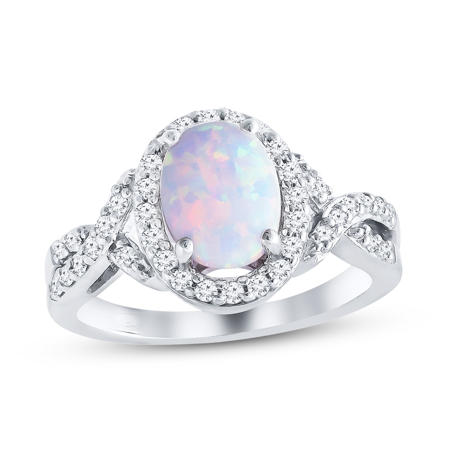 products gold diamond desantis opal white ring jewelry sapphire