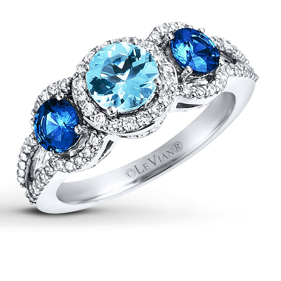 white with ct diamond winding accents aquamarine gold ring tw sapphire willow