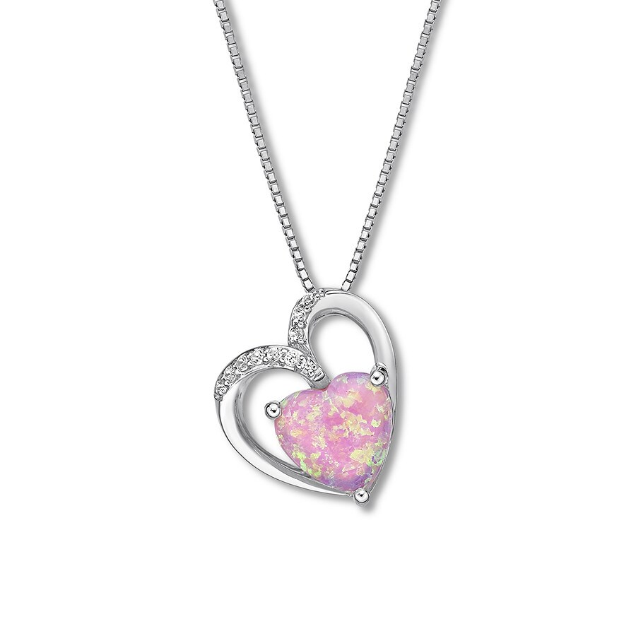 Heart pink necklace photo images