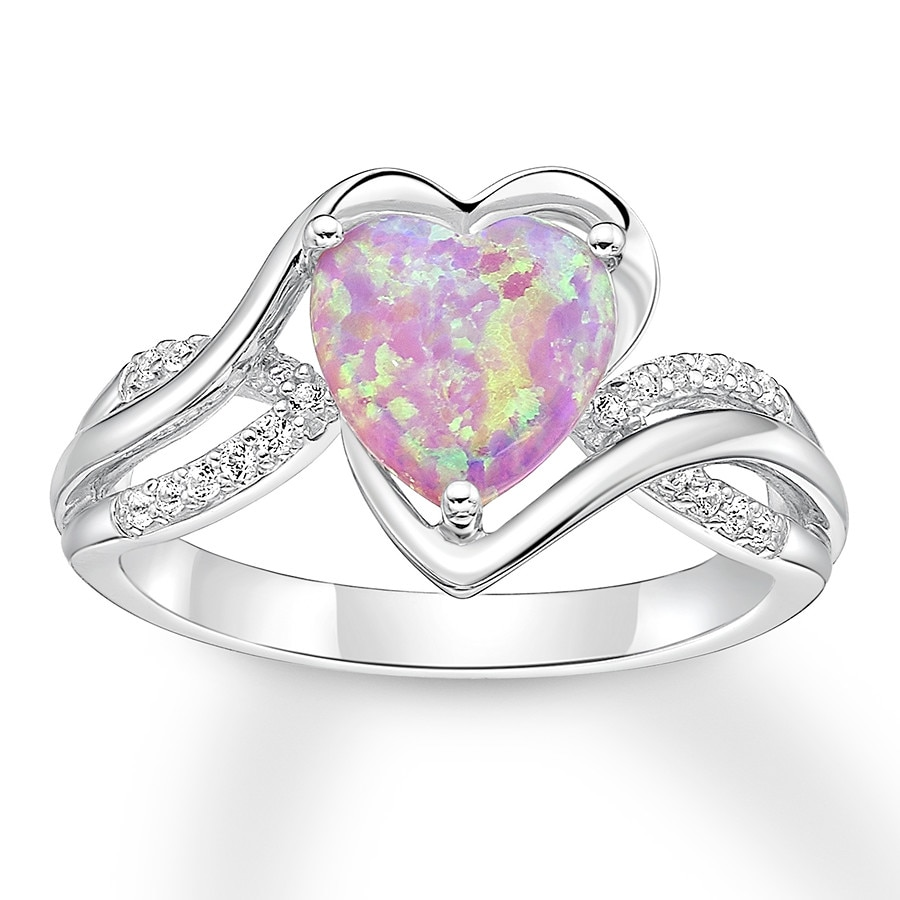 stone opal elegant fire with heart ring pink shape img center that wedding rings product