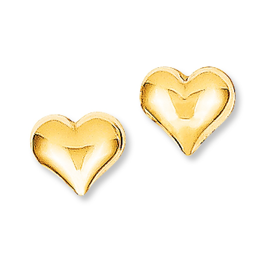 heart earrings gold - photo #9