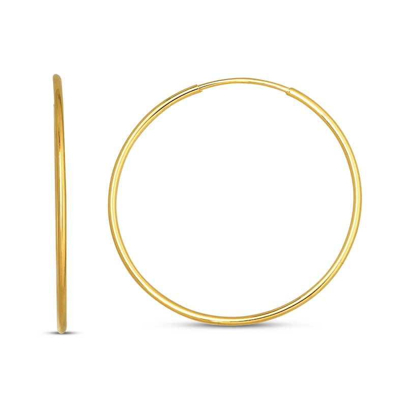 Endless Hoop Earrings 14k Yellow Gold 21mm Kay