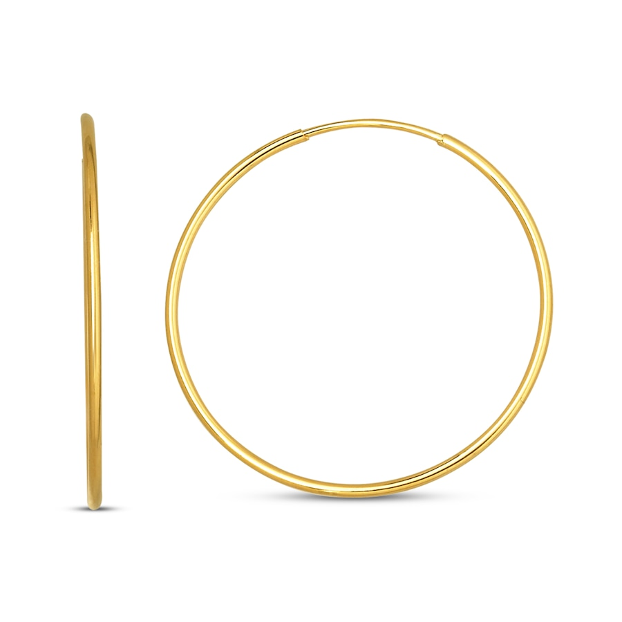 Endless Hoop Earrings 14k Yellow Gold 21mm Tap To Expand