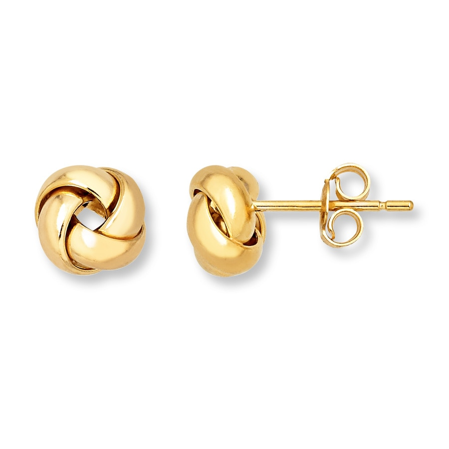 Love Knot Earrings 14k Yellow Gold Tap To Expand
