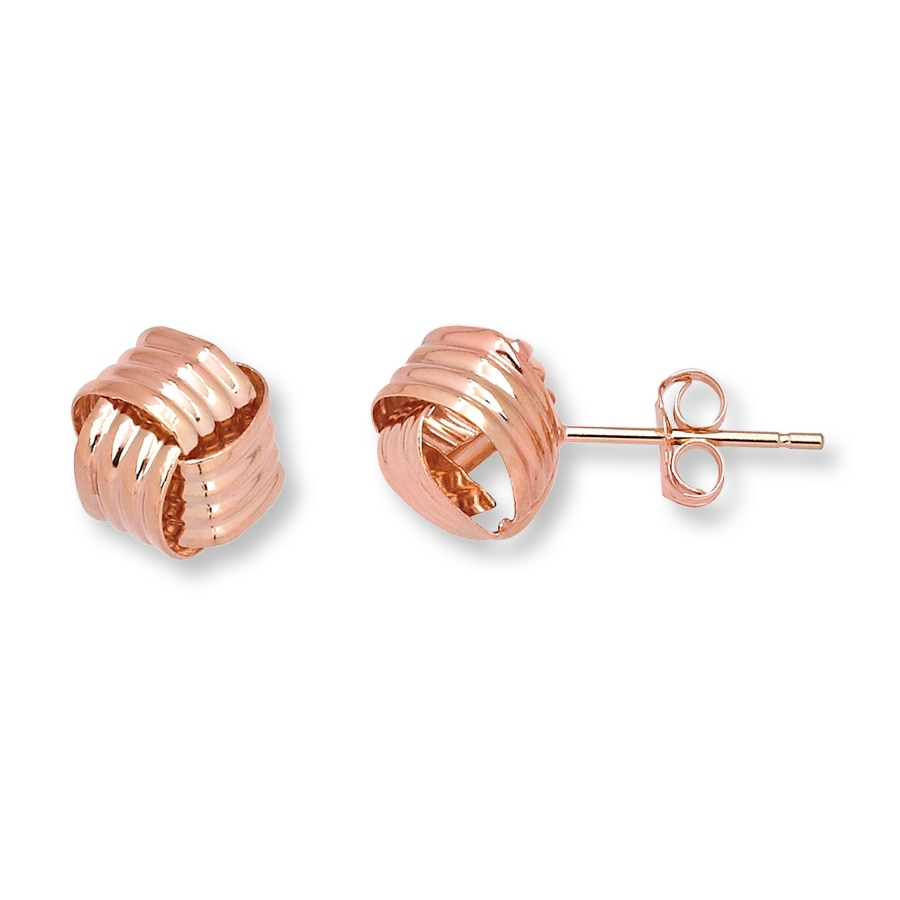 Love Knot Earrings 14k Rose Gold Tap To Expand