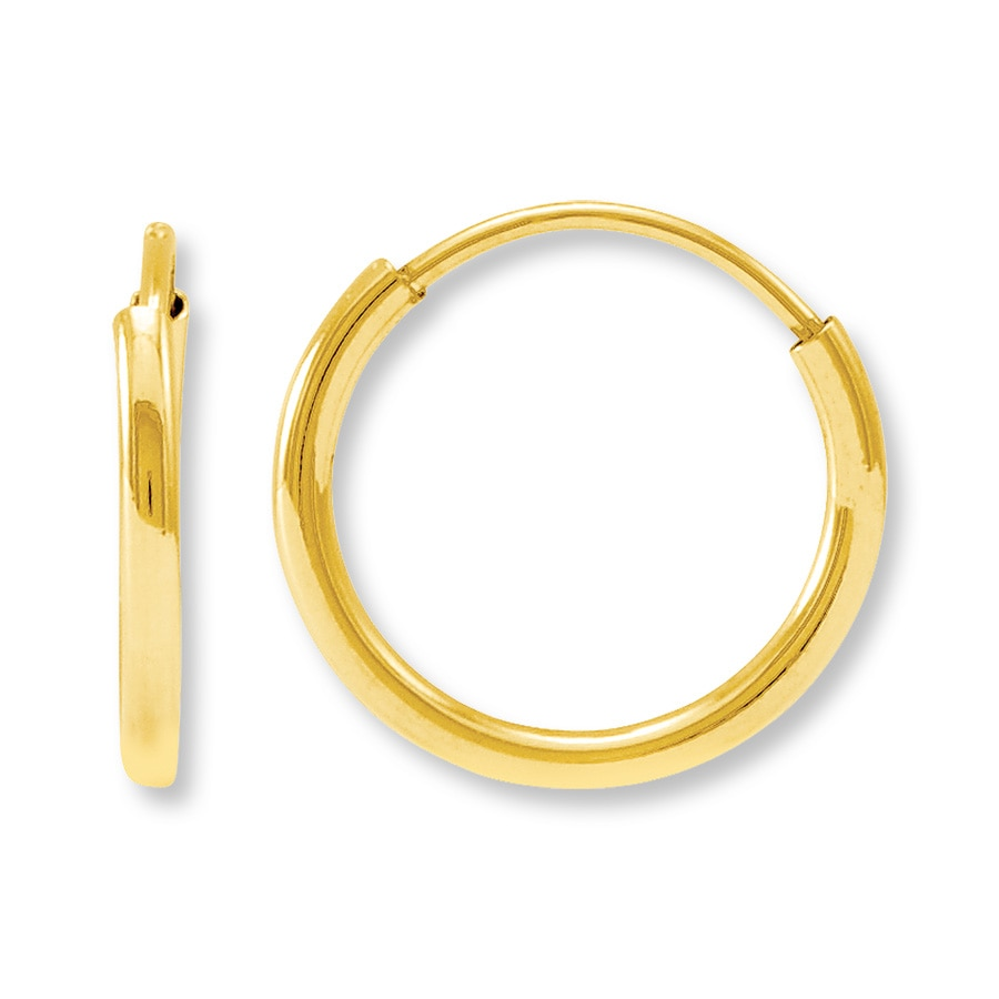 children s hoop earrings child s hoop earrings 14k yellow gold 392818009 3071
