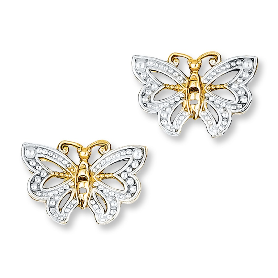 Butterfly Earrings 14k Yellow Gold 392846604 Kay
