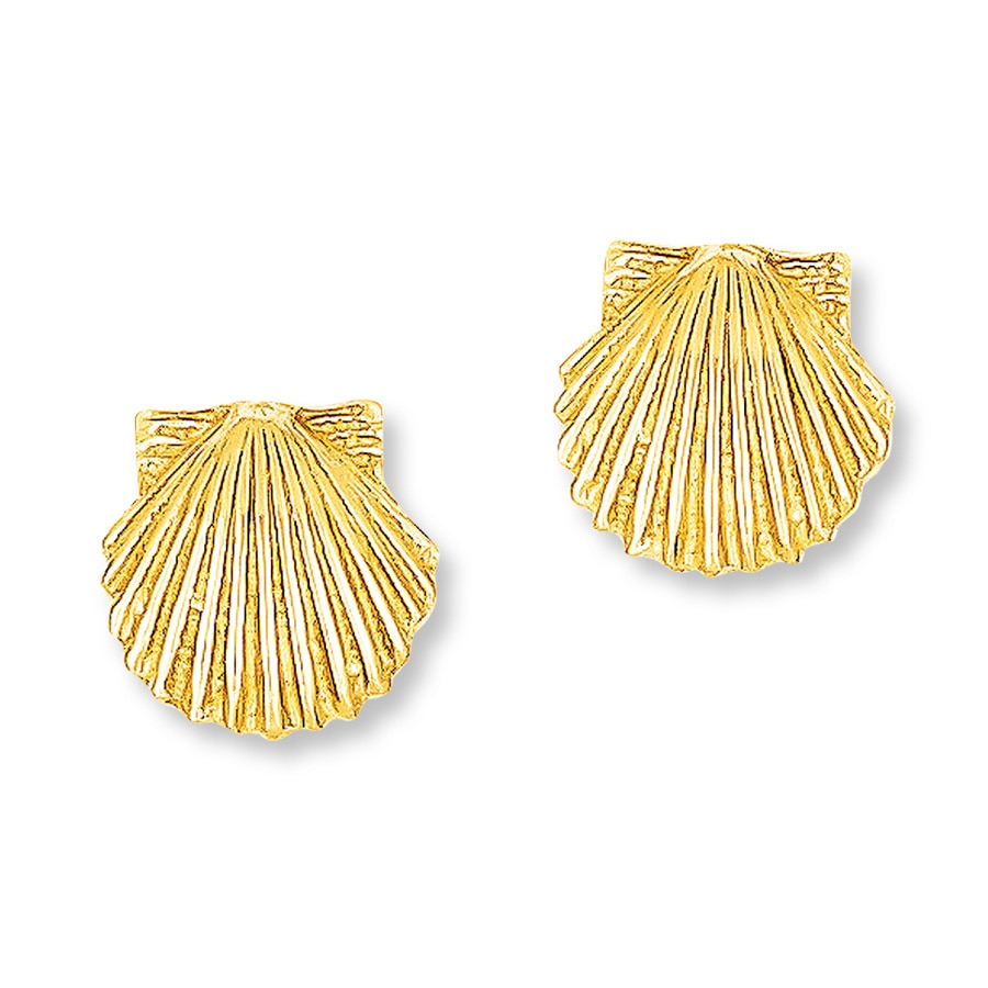 Kay Seashell Earrings 14k Yellow Gold