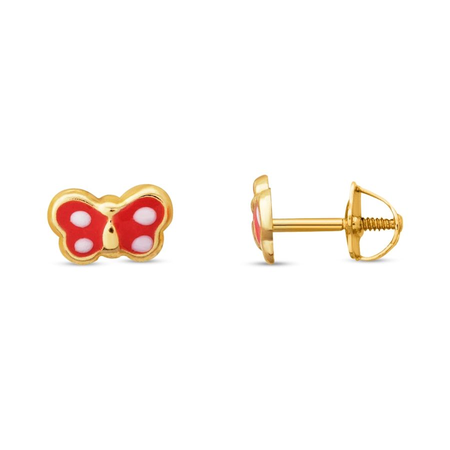 Children S Earrings 14k Yellow Gold Erfly