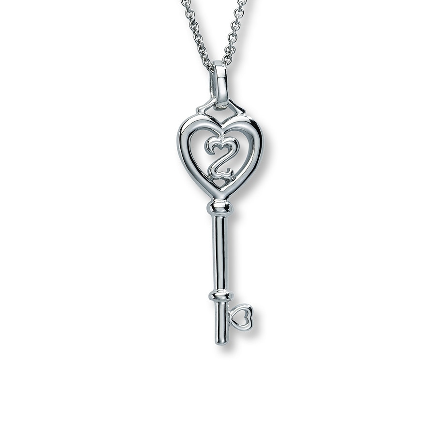 Kay - Open Hearts Key Necklace Sterling Silver