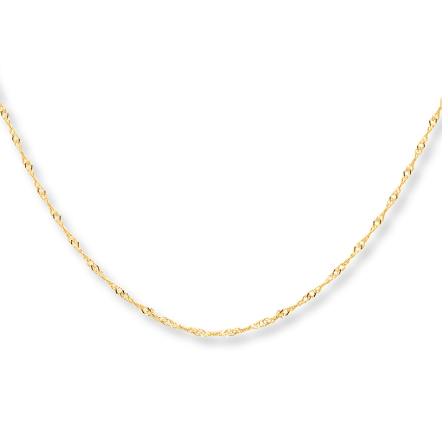 Singapore Chain Necklace 10k Yellow Gold 30 Quot Length