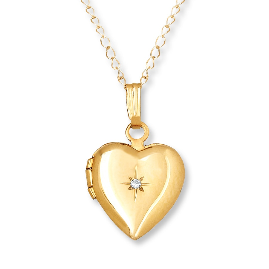 locket childrens s necklace lockets kids jewelry dp heart children filled yellow pendant com gold amazon