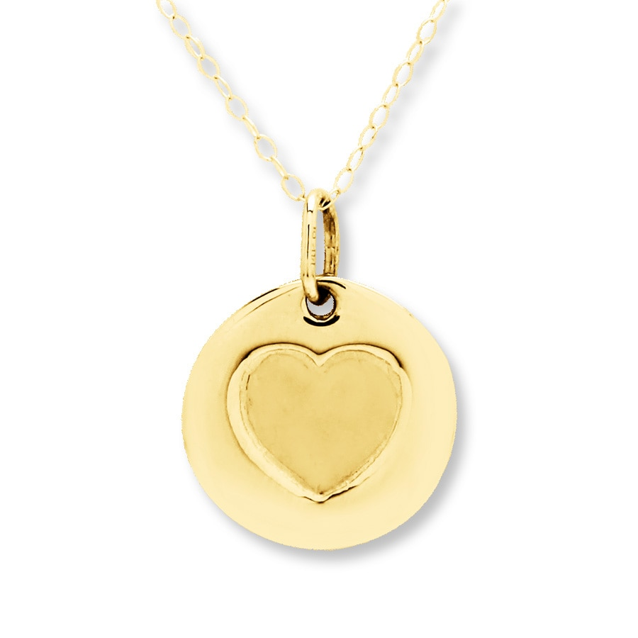 Heart Necklace 14k Yellow Gold 401360209 Kay