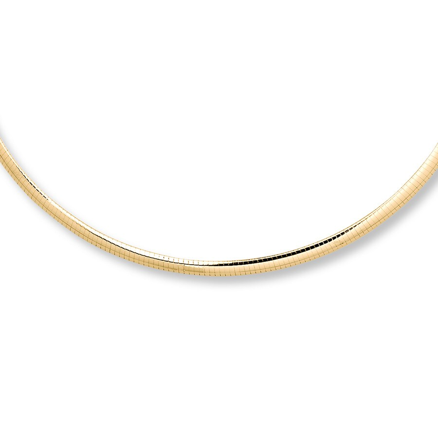 inch products design chain goldtone omega necklace choker flat