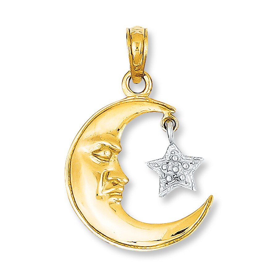 Moon Star Charm 14k Two Tone Gold 417306305 Kay