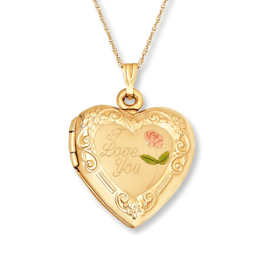 Heart Locket 14k Yellow Gold 417453406 Kay
