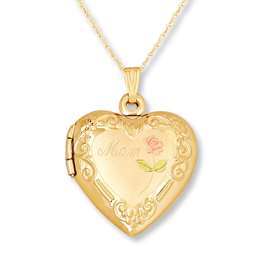 and lockets ct chains antique hallmarked necklace compact gold the shop vintage pendants solid products