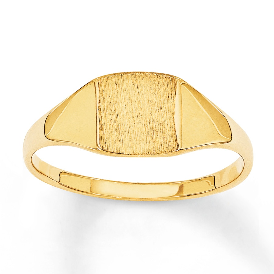 s signet ring 14k yellow gold