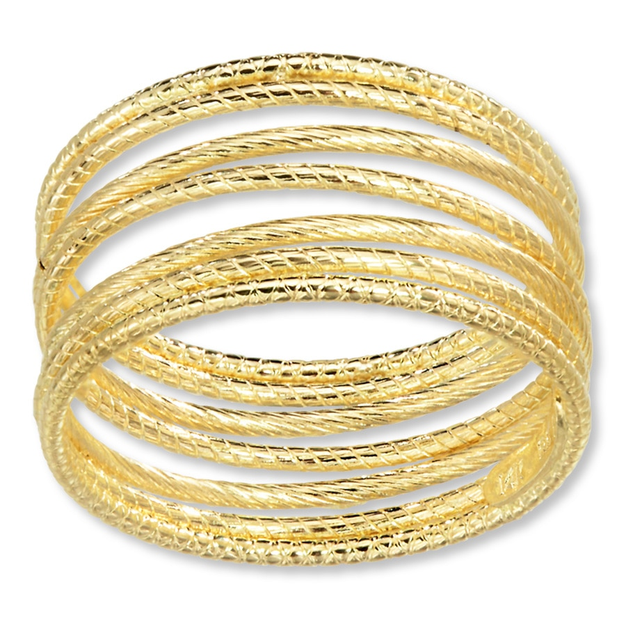 14k Yellow gold Stackable Rings