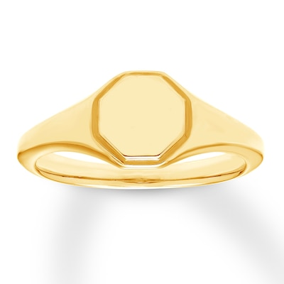 Signet Ring 10K Yellow Gold