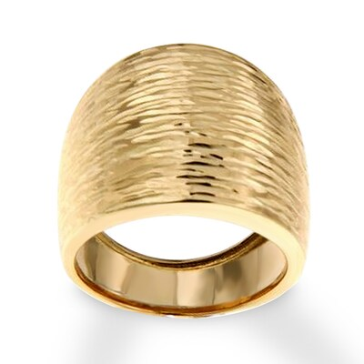 Textured Statement Ring 14K Yellow Gold