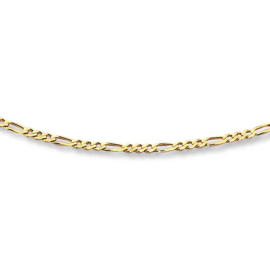 334177530da2f Figaro Link Chain 14K Yellow Gold 20