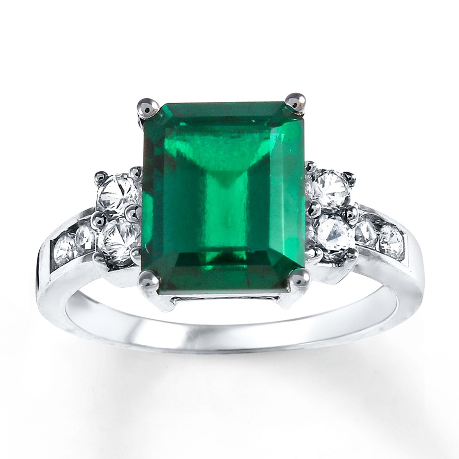 Kay Lab Created Emerald Lab Created Sapphires Sterling